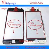 20pcs Presse à froid AAA qualité Pour iPhone 6 6s 7 plus 5 5c 5s Verre externe avec cadre de lunette avec oca lcd pièce de réparation