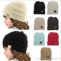 kids Winter Warm CC beanie Hat Knitted CC Hat for Children S...