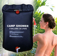 Outdoor Camping Hiking 5 Gallon 20 Litter PVC Solar Shower B...
