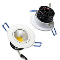 O diodo emissor de luz Recessed a lâmpada do teto Dimmable 110V 220V com motorista O COB ajustável para baixo mancha o ponto Lampe 3W 5W 7W 10W 15W para a cozinha do hotel do supermercado