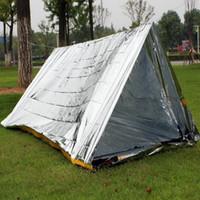 240 * 160cm 방수 슬리버 Mylar 열 생존 쉼터 캠핑 텐트 야외 응급 피난소 야외