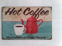 Hot Coffee tin sign Vintage home Bar Pub Hotel Restaurant Co...