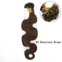 Corps d'onde 20''Pre-Bonded pointe U Hair Extensions 100Strands 200grams remy Cheveux noirs Bronw Blonde Nouveau En stock