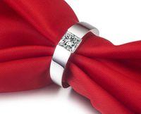 Anello di fidanzamento con diamanti sintetici argento SONA, trasporto libero, in argento sterling 925, semi-montatura in oro bianco 18 carati