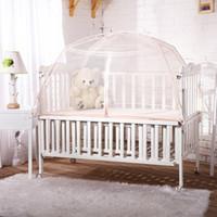 الجملة- رضيع البعوض صافي لأسرة خيمة سرير في الأماكن المغلقة الطفل مظلة قابلة للطي الطفل السرير سرير طوي البعوض صافي خيمة قابلة للطي السرير
