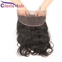 Body Wave Raw Indian Virgin Human Hair Lace Frontal 360 Clos...