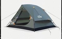 Hewolf водонепроницаемый двойной слой 2 3 человек открытый кемпинг палатка туризм пляж палатка туристический спальня путешествия 2017 Китай Баррака tenda