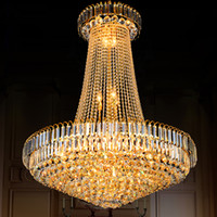 Crystal Chandeliers Lighting Fixture LED Modern Gold Crystal...