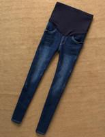 Europa cintura elástica más tamaño mujeres pantalones de vientre para jeans embarazadas ropa de maternidad pantalones de embarazo maternidad vetement grossesse