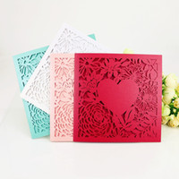 wedding invitations flower laser cut wedding invitations wed...