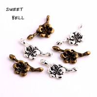 SWEET BELL 14*31mm two color Metal Zinc Alloy Flower Charms ...