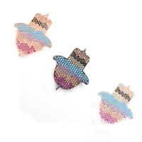 3 colores brillantes CZ Micro Pave encanto para hacer collar con buena calidad, ICSP084, Size27.8 * 21.7mm