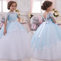 2021 novo bebê princesa flor menina vestido lace apliques casamento vestidos de baile de baile aniversário comunhão criança crianças tutu vestido