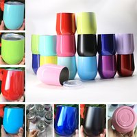 New 19 Colors 9oz Egg Cup Stemless Cups Stainless Steel Doub...