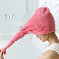Super Absorbent Quick- drying Microfiber Towel Hair Dry Cap S...