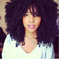 Hot charming curly simulation human hair Wig afro Kinky Curl...