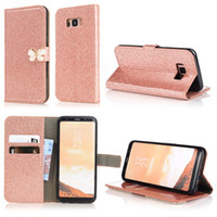 Sparkle Flip Cases para iPhone 12 Pro Max 11 XR XS 8 7 Plus 6 5 5S SE Cubierta de mariposa Bling Bling Glitter Cartera Tarjeta de cuero Slot Powder Sparking Moda Teléfono Bolsas Bolso