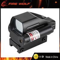 FOGO WOLF Tactical Reflexo Holográfico Red / Green Dot Scope 4 Reticle Red Visão Laser para 22mm frete grátis