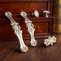 96 мм 128 мм европейский стиль ретро нефрит мебель ручки белый нефрит kithcen шкаф винный шкаф ящик серебро тянет ручки