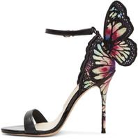 sophia webster Webster Sandali con cinturino alla moda Evangeline Angel-wing Sandals con tacco alto con cinturino alla caviglia Cinturino alla caviglia Lady sandali taglia 34-42