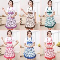 New Printed Apron with Pockets Waterproof Floral Bib Kitchen...