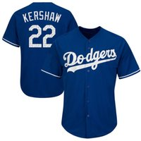Hommes Los Angeles Dodgers Clayton Kershaw Maillots de baseball 2017 Printemps de formation Cool Base 100% cousus Player Jersey