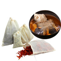 Venda por atacado venda quente portátil 100 pc 8x10cm algodão muslin sacos reutilizáveis sacos de embalagem de banho habs filtro