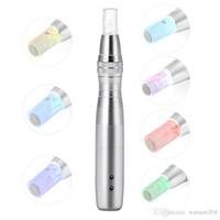 2017 el más nuevo 7 color LED Photon Derma Pen recargable eléctrico Dermapen para el rejuvenecimiento de la piel con 50 unids cartuchos de agujas DHL envío gratis