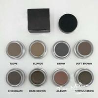 2017 Natural de larga duración Fácil de usar Tamaño completo Lápiz Pomada caliente Medio Marrón Maquillaje impermeable Ceja 4g Rubio / Chocolate / Negro