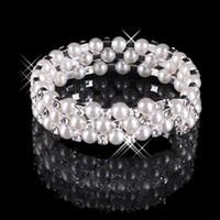 2020 Hot Faux Pearl Pearl Crystal Pulseira De Jóias Noiva Acessórios De Casamento Senhora Prom Noite Party Jewery Bridal Bridelets Frete Grátis