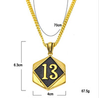 LUCKY13 lucky digital tag necklace