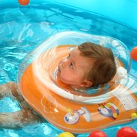 Wholesale- Baby swim ring collar infant thickening inflatabl...