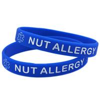 100 pcs porca alergia silicone pulseira de borracha juventude e tamanho adulto carregam esta mensagem como um lembrete na vida diária
