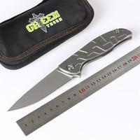 Yeşil diken F95 hızlı açık katlama bıçak, D2 blade, TC4 titanyum kolu, açık kamp, avcılık çanta, meyve bıçağı, EDC aracı