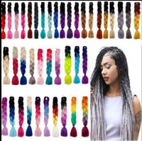 55 COLOR Kanekalon Jumbo Braid Hair Senegalese tool Twist 24...