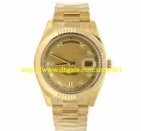 store361 new arrive 시계 톱 고품질 오토매틱 남성 시계 II 18k 옐로우 골드 다이아몬드 다이얼 사장 218238 Unworn / New