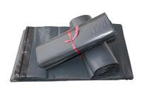 Graue Mail-Taschen Hohe Qualität Poly selbstsiegel selbstklebende Mailbag Kunststoff Mailer Tasche Umschlag Kurier Postleitzahl Versand Taschen 17 * 29cm