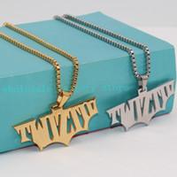 """Charme bijoux cadeau ICP Twiztid logo Design Haute en acier inoxydable poli pendentif w / 24 """"chaîne deux tons argent / or"""