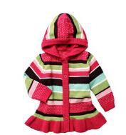 Special Offer - kids clothing new born girl striped hooded s...