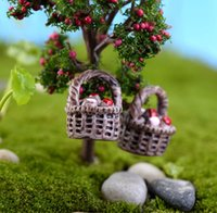 8pcs Mini baskets miniatures for terrariums resin craft fair...