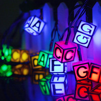 LED 영어 편지 태양 광 전원 빛 할로윈 크리스마스 장식 30 조명 홈 야외 정원 파티오 파티 휴일 용품 HH7-180