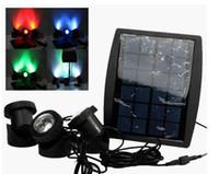 LEDs Solarbetriebene 3 Lampen Landschaftsscheinwerfer Projektionslicht für Garten Pool Teich Außenbeleuchtung Unterwasserleuchten