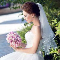 Due strati Tulle brevi veli da sposa Vendita calda matrimonio poco costoso accessorio nuziale per veli da sposa Cheap Net matrimonio in magazzino su misura