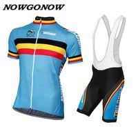 Kann angepasst werden retro belgien radfahren jersey + bib shorts männer bike kleidung tragen nowgonow pro raca ciclismo gel pad road mtb straße