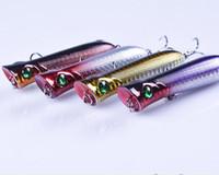 НОВЫЙ Плавающий воблер Лазерный поппер попер рыболовные приманки крючки 8.4см 12.5г Плавающая поверхность Crankbait ABS пластик имитация жестких приманок