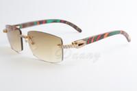 2019 Nouvelle vente Limited Grand diamant Lunettes de soleil Male et femelle Sunglasses en bois de paon 3524012 (2) Taille: 56-18-135mm