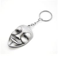 Original Series Marque-clé du film V pour Vendetta Hacker Masque Nouveau trousseau pour les clés Chaveiro Llavero Keychain 3 Couleurs cadeaux