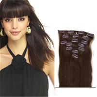 مقطع لحمة مزدوجة في الشعر الإنسان # 4 مقطع الشعر شعر الإنسان على ملحقات شحن مجاني