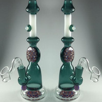 Dark Green 2020 New Fashion Glass Water Pipes With Glass Ban...