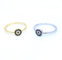 US size 6- 8 dainty delicate minimal jewelry silver gold plat...